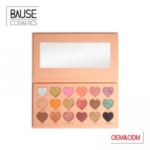 Heart shape paper box high pigmented eyeshadow palette